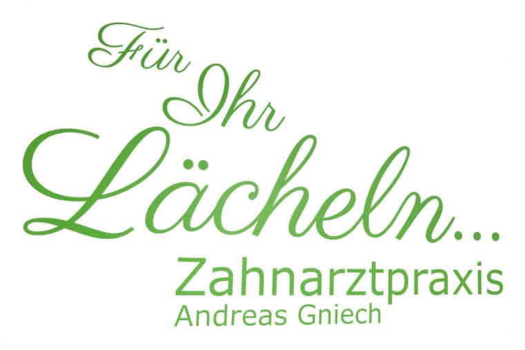 Slogan - Für Ihr Lächeln, Zahnarztpraxis Andreas Gniech